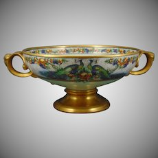 "Rosenthal Bavaria Peacocks & Fruit Design Centerpiece Bowl (Signed ""CCW""/c.1909-1930) - Keramic Studio Design"