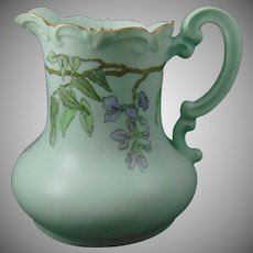 "PH Leonard Austria Wisteria Design Pitcher (Signed ""M.F.T.""/Dated 1914)"