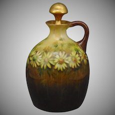 "Delinieres & Co. (D&Co.) Limoges Daisy Motif Jug (Signed ""E.S. Smith""/c.1900-1920)"