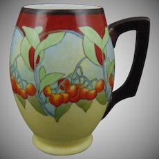 "PH Leonard Austria ""Mountain Ash"" Design Mug/Tankard (c.1905-1920) - Keramic Studio Design"