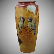 """Rosenthal Selb Bavaria Sparrow Design Vase (Signed """"A.C. Magnuson""""/c.1910-1940)"""