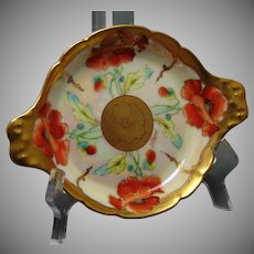 "Pickard Studios Radiating Poppy Design Dish (Signed ""Yeschek""/c.1903-1905)"