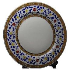 "Rosenthal Selb Bavaria Enameled Floral Design Charger/Plate (Signed ""Johann""/1907-1940)"