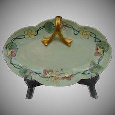 Bavaria Nasturtium Design Handled Serving Dish/Tray (c.1910-1930)