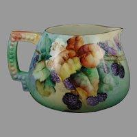 Ceramic Art Company (CAC) Belleek (American) Blackberries Design Cider/Lemonade Pitcher (c.1899-1906)