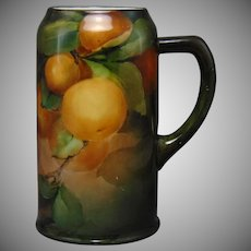 Ceramic Arts Company (CAC) Belleek (American) Orange Fruit Design Tankard/Mug (c.1899-1906)