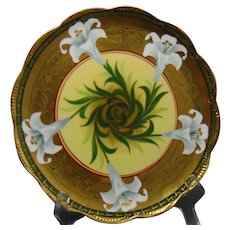 """Pickard Studios """"Easter Lily"""" Design Plate (Signed/c.1903-1905)"""
