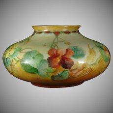 PH Leonard Nasturtium Motif Vase (Signed/c.1890-1920)