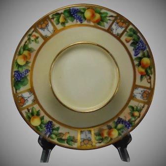 T&V Limoges Fruit Motif Tiered Caviar/Serving Plate (Signed/c.1914-1930) - Keramic Studio Design