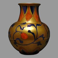 "Heinrich & Co. Selb Bavaria Berry Motif Vase (Signed ""Sue Lambert""/c.1920-1940)"