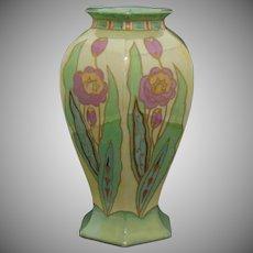 B&Co. Limoges Art Deco Lustre Floral Design Vase (c.1914-1930)