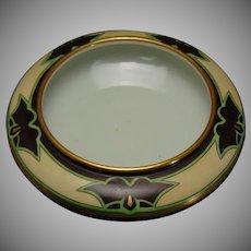 """Fischer & Meig Epiag Czechoslovakia Art Deco Floral Design Planter/Bowl (Signed """"M.D.F.""""/c.1918-1936)"""