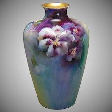 Rosenthal Selb Bavaria Pansy Design Vase (c.1907-1940)