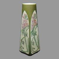 """Fisher & Meig Pirkenhammer Austria Titanic """"Wild Rose"""" Design Vase (c.1913-1930) - Keramic Studio Design"""