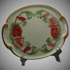 "RS Tillowitz Poppy Design Tray (Signed ""N. Ross""/Dated 1927)"