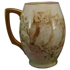 Lenox Belleek (American) Owl Design Tankard/Mug (c.1906-1924)