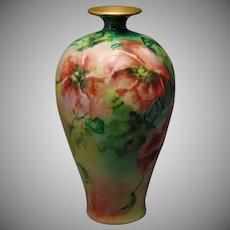 "Ceramic Art Company (CAC) Poppy Motif Vase (Signed ""M. Klemm""/Dated 1898)"