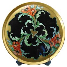 "GDA Limoges Poppy Design Tray (Signed ""M. Perl""/c.1910-1935)"