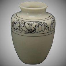"""Lenox Belleek (American) """"In-Process"""" Floral Design Vase (c.1906-1924)"""
