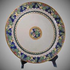 """Haviland Limoges Fruit Design Charger/Plate (Signed """"O. Geist""""/c.1900-1930)"""