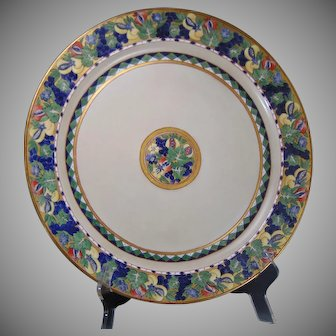 "Haviland Limoges Fruit Design Charger/Plate (Signed ""O. Geist""/c.1900-1930)"