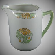 "Oscar & Edgar Gutherz (O&EG) Austria Floral Design Creamer/Pitcher (Signed ""H.E.S.""/ Dated 1919)"