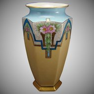 Bernardaud & Co. (B&Co.) Limoges Floral Design Vase (c.1900-1920)