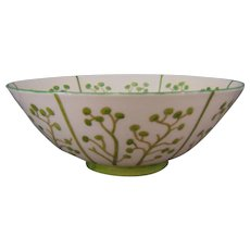 "Lenox Belleek (American) Organic Design Bowl (Signed ""CHM""/c.1906-1924)"