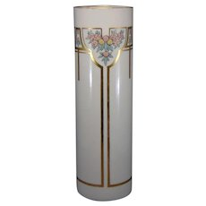 "Lenox Belleek (American) Enameled Citrus & Floral Design Vase (Signed ""H. Mullen""/Dated 1916) - Keramic Studio Design"