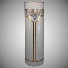 "Lenox Belleek (American) Enameled Citrus & Floral Design Vase (Signed ""H. Mullen""/Dated 1916) - Keramic Studio Design"