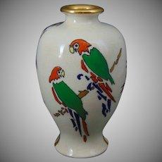 "American Satsuma Parrot Design Vase (Signed ""L. Mueller""/c.1910-1930)"