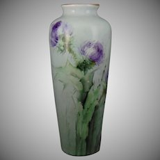 Porcelain Blank Thistle Design Vase (c.1920-1940)