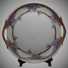 Zeh, Scherzer & Co. (ZS&Co.) Bavaria Bird/Sea Gull Design Plate (c.1909-1930) - Keramic Studio Design