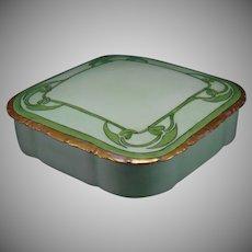 Rosenthal Bavaria Leaf & Vine Motif Covered Box (c.1911-1940) - Keramic Studio Design