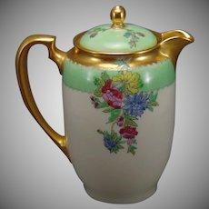 Lenox Enameled Floral Design Syrup Pitcher (c.1926-1930)