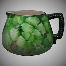 Lenox Belleek (American) Monochromatic Hops Design Cider/Lemonade Pitcher (c.1906-1924)