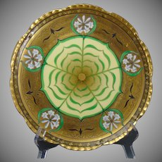 """Pickard Studios """"Lily Palmate"""" Design Plate (Signed """"Tomash""""/c.1905-1910)"""