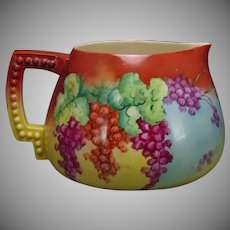 Ceramic Art Company (CAC) Belleek (American) Currant Design Cider/Lemonade Pitcher (Signed/Dated 1902)
