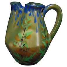 RStK Amphora Austria Arts & Crafts Floral Motif Pitcher (c.1900-1904)