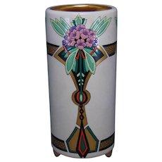 American Satsuma Enameled Floral Design Vase (Signed/Dated 1927)