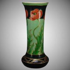 """Rosenthal Bavaria Poppy Design Vase (Signed """"Moser"""" /c.1907-1930)"""