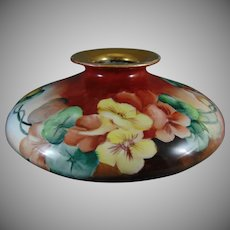 T&V Limoges Nasturtium Motif Vase (c.1903-1920) - Keramic Studio Design