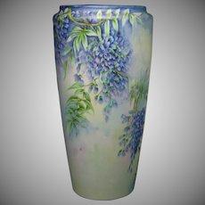 Bernardaud & Co. Limoges Wisteria Design Vase (c.1914-1930)