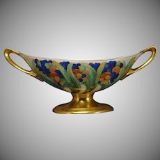"Lenox Belleek (American) Enameled Fruit Design Bowl (Signed ""L. Hitz""/c.1900-1910)"