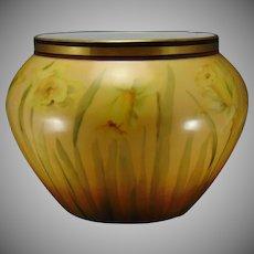 D&Co. Limoges Daffodil/Jonquil Design Vase/Jardinière (c.1894-1900)