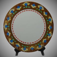 """Thomas Bavaria Abstract Floral Design Plate (Signed """"E.M. Barentsen""""/Dated 1918)"""