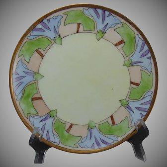 "Thomas Bavaria ""Morning Glory"" Design Plate (Signed ""N.E. Mann""/Dated 1913) - Keramic Studio Design"