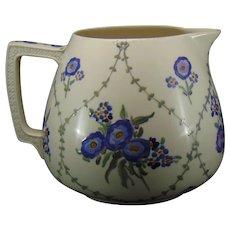 Willets Belleek (American) Enameled Floral Design Cider/Lemonade Pitcher (Dated 1916)