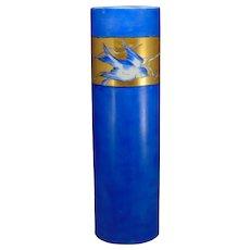 """Blank Porcelain Bluebird Design Vase (Signed """"O. Hogg""""/Dated 1912)"""