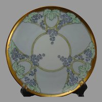 "Bavaria Grape Design Plate (Signed ""E.G.V.W.""/c.1910-1930)"